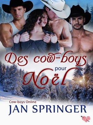 cover image of Des cow-boys pour Noël