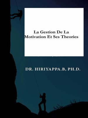 cover image of La gestion de la motivation et ses théories