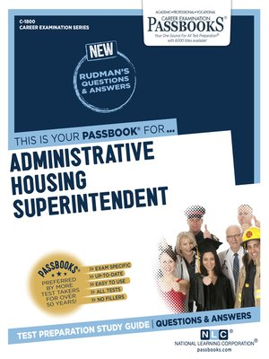 cover image of Administrative Housing Superintendent