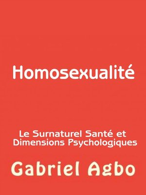 cover image of Homosexualité