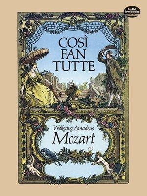 cover image of Cosi fan Tutte in Full Score