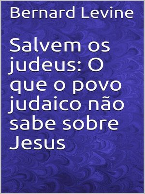 cover image of Salvem os judeus