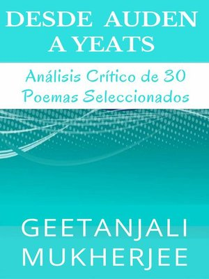 cover image of Desde Auden a Yeats