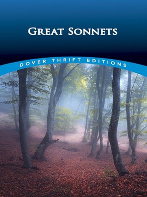cover image of Great Sonnets