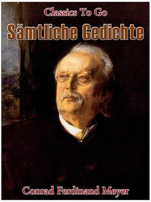 cover image of Sämtliche Gedichte