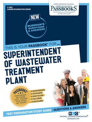 cover image of Superintendent of Wastewater Treatment Plant