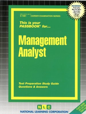 cover image of Management Analyst