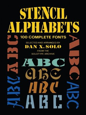 cover image of Stencil Alphabets