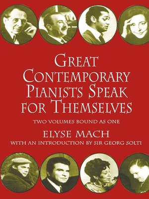 cover image of Great Contemporary Pianists Speak for Themselves