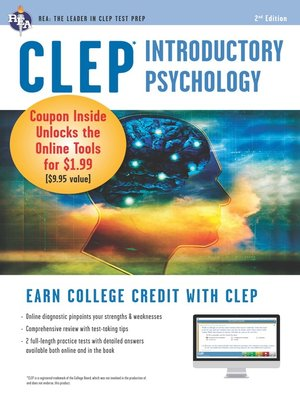 cover image of CLEP Introductory Psychology w/ Online Practice Exams