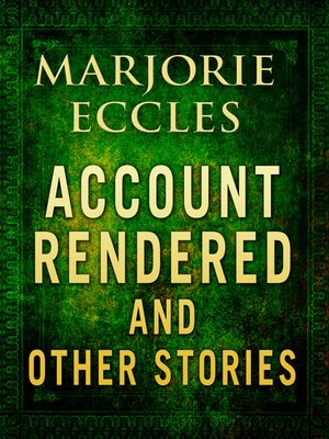 cover image of Account Rendered & Other Stories