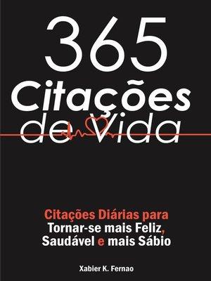 cover image of 365 Citações de Vida