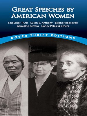 cover image of Great Speeches by American Women