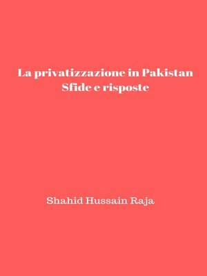 cover image of La privatizzazione in Pakistan