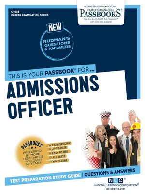 cover image of Admissions Officer