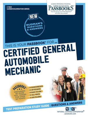 cover image of Certified General Automobile Mechanic (ASE)