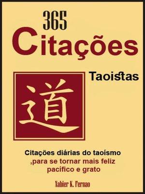 cover image of 365 Citações Taoistas