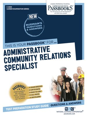 cover image of Administrative Community Relations Specialist