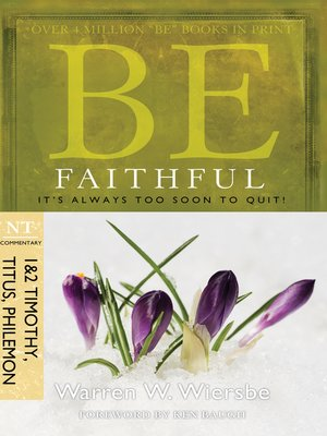 cover image of Be Faithful