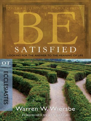 cover image of Be Satisfied