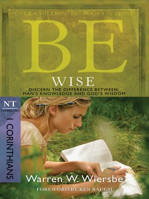 cover image of Be Wise