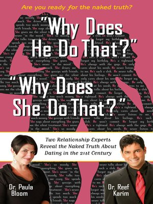 "cover image of ""Why Does He Do That?"" ""Why Does She Do That?"""