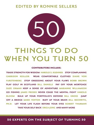 cover image of 50 Things To Do When You Turn 50
