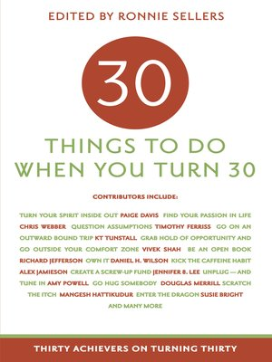 cover image of 30 Things to Do When You Turn 30