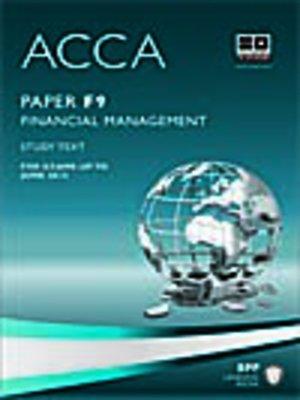 Bpp acca f9 study text 2012 writerlivin.