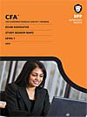 cover image of CFA Navigator - Level 1 Study Session Maps