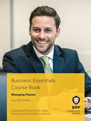 cover image of Managing Finance Course Book 2015