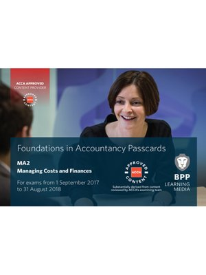 cover image of FIA Managing Costs and Finances MA2: Passcards