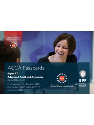 cover image of ACCA P7 Advanced Audit and Assurance (UK) (2016)