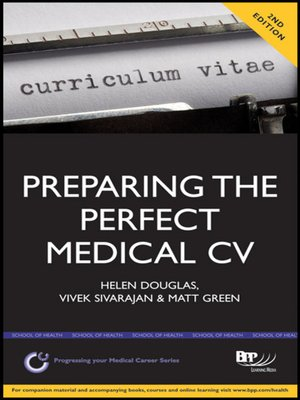 cover image of Preparing the Perfect Medical CV