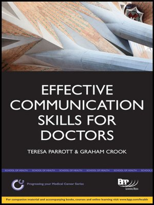 cover image of Effective Communication Skills for Doctors