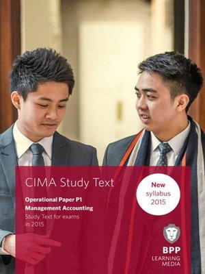 cover image of CIMA P1 Management Accounting