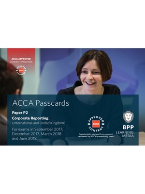 cover image of ACCA P2 Corporate Reporting (International): Passcards