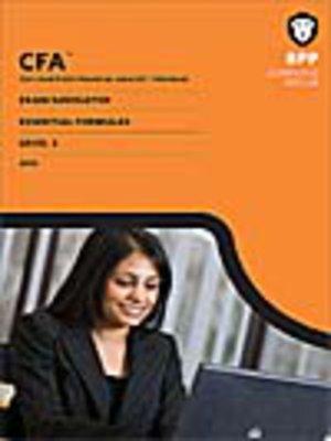 cover image of CFA Navigator - Level 3 Essential Formulas