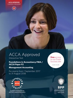 cover image of FIA Foundations in Management Accounting FMA (ACCA F2): Interactive Text