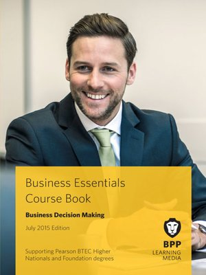 cover image of Business Decision Making Course Book 2015