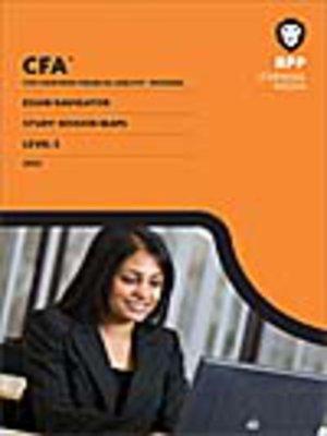 cover image of CFA Navigator - Level 3 Study Session Maps