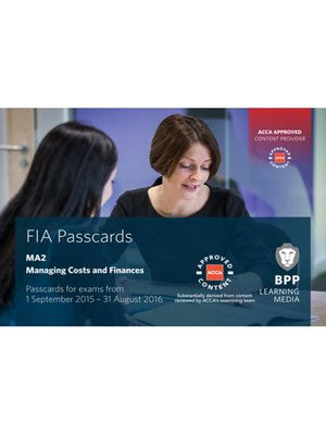 cover image of FIA Managing Costs and Finances MA2