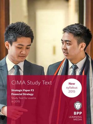 cover image of CIMA F3Financial Strategy