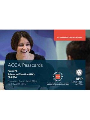 cover image of ACCA P6 Advanced Taxation FA2014