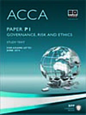 cover image of ACCA P1 - Professional Accountant - Study Text 2013