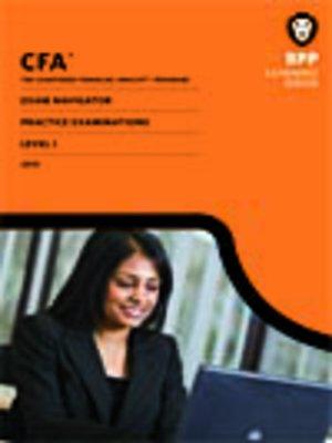 cover image of CFA Navigator - Level 1 Mock Examinations