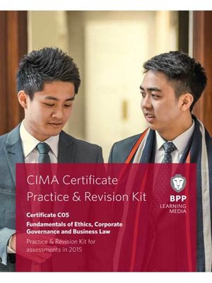 cover image of CIMA Fundamentals of Ethics, Corporate Governance and Business Law