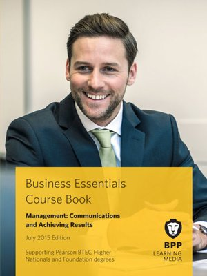 cover image of Management: Communications and Achieving Results Course Book 2015