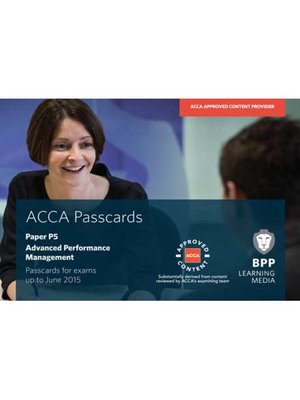 cover image of ACCA P5 Advanced Performance Management
