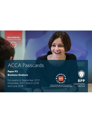 cover image of ACCA P3 Business Analysis: Passcards